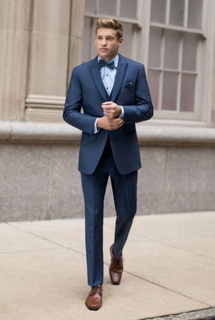 Blue tuxedo for men