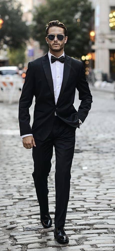 black tuxedo suit men