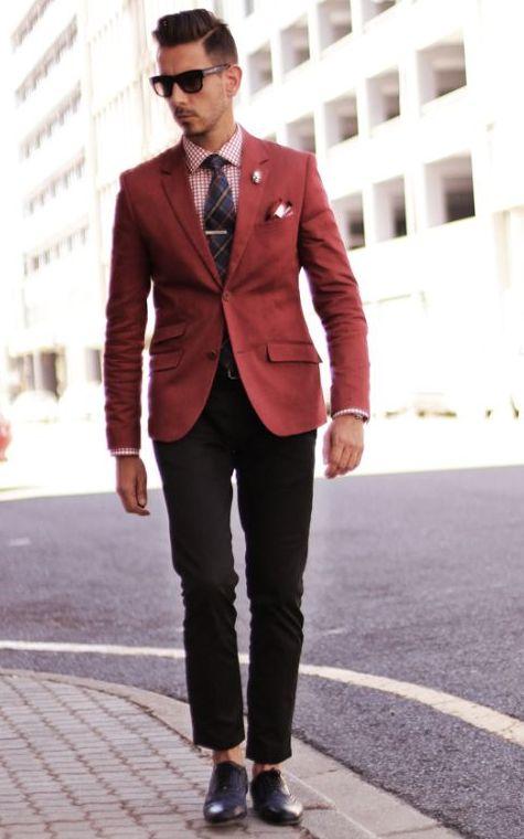 maroon jacket suit