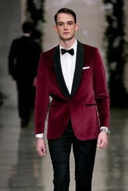 maroon velvet blazer