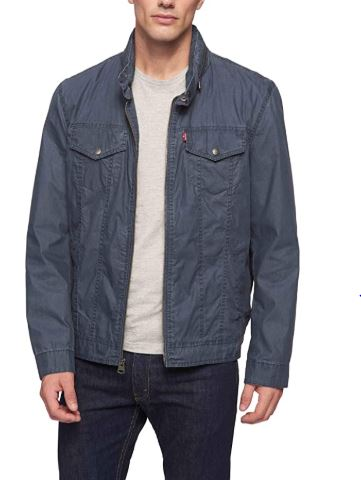 Blue Parachute Cotton Jacket