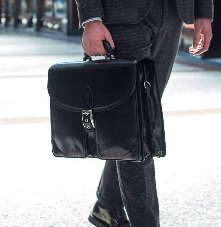 luxury leather bag briefcase men