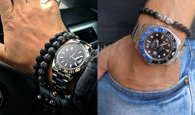 mens watches and bracelet fashion