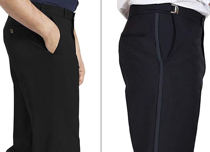 tuxedo vs suit pants men