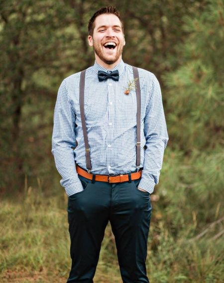 Casual outfit men wedding guest