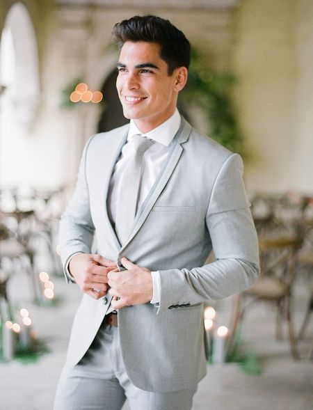light grey suit men