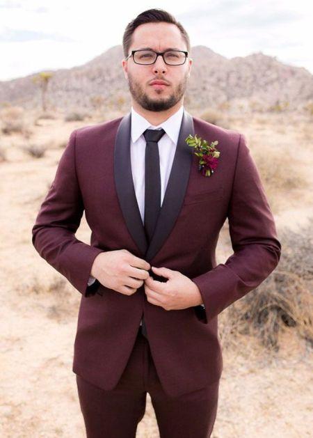 maroon plum tuxedo