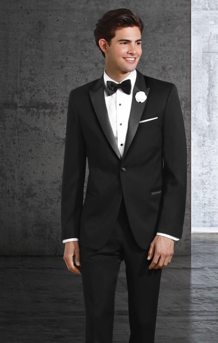 peak lapel men tuxedo