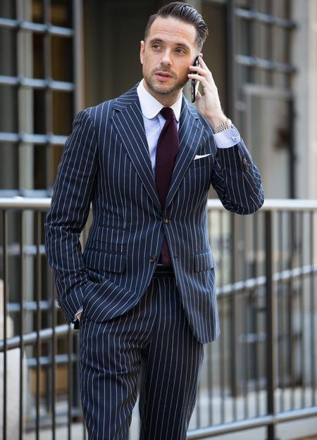 pinstripe suit men