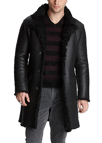 Mens Coat With Shearling