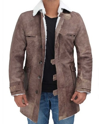 Shearling Coat Distressed