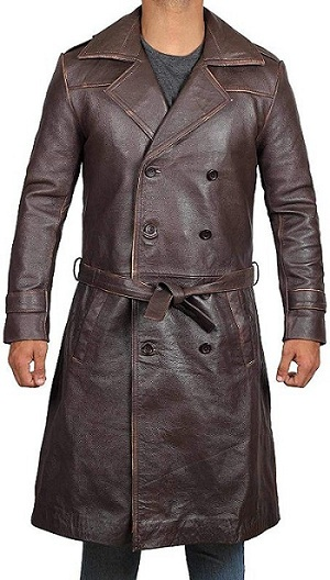 Brown Leather Trench Coat Winters