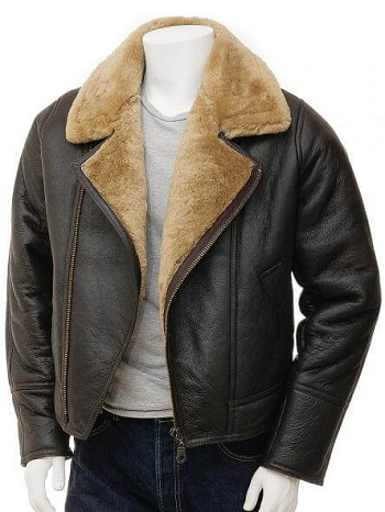 Shearling Leather Flight Jacket