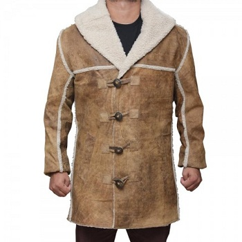 Shearling overcoat Single Breasted