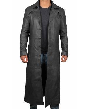 Leather Overcoat Men