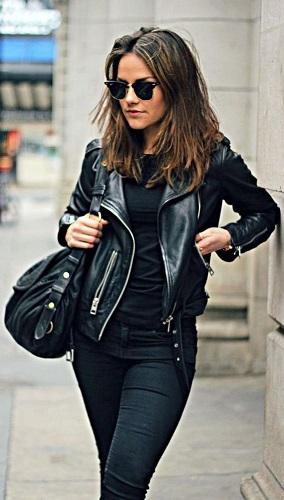 Biker Jacket With Jeans