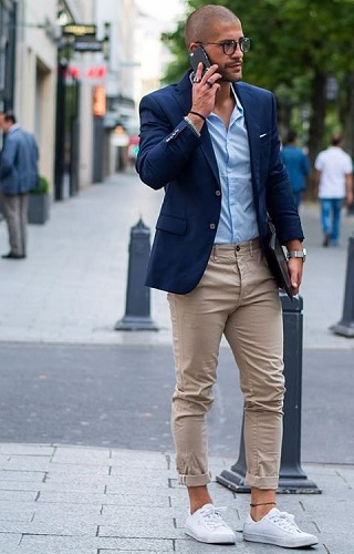 Blazer with chinos