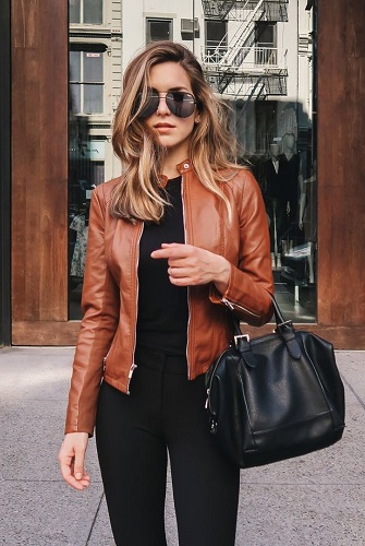 Brown Lether Jacket Style