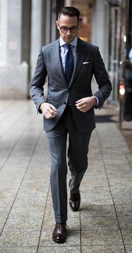 Charcoal Suit Men