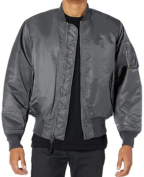 Mens Lightweight MA Grey Bomber Jacket