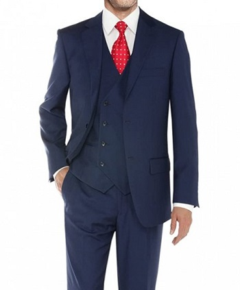 Three Piece Suit Blue