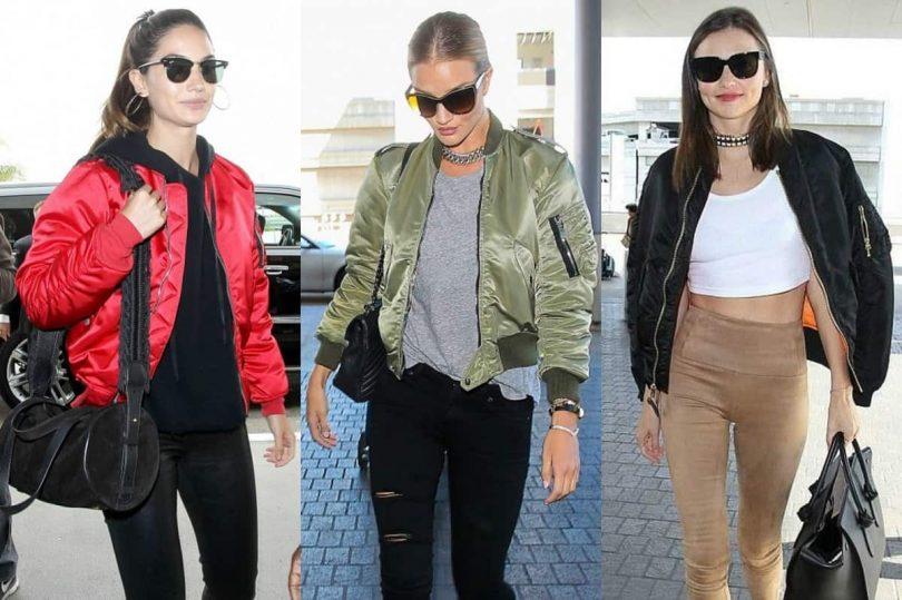 celebrity bomber jackets
