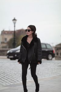 black shearlin black shoes