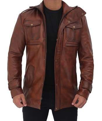 Cowhide Leather Coat