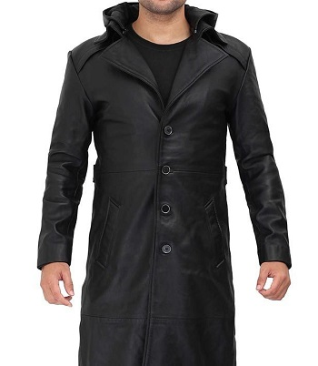 Leather Coat With Hood