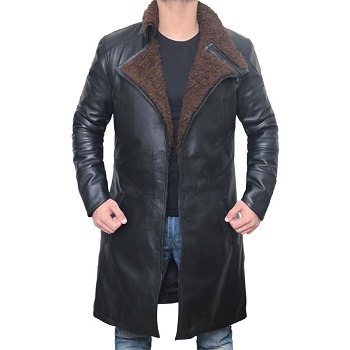 Shearling Lined Leather Coat