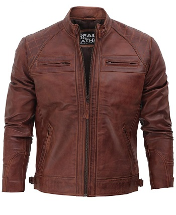 The Vincent Brown Leather Jacket