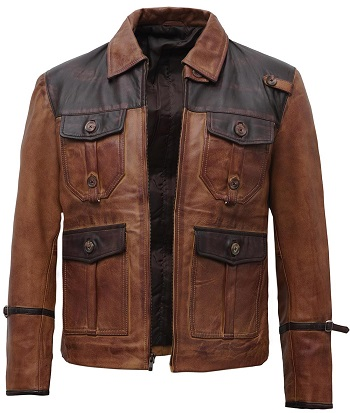 Vintage Leather Jacet Men