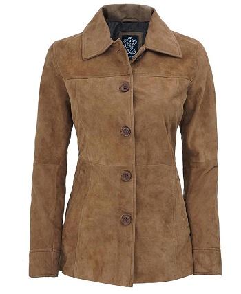 Womens Suede Coat