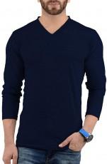 long sleeves navy t shirt