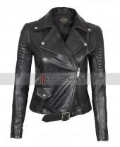 Womens Black Biker Jacket For Ladies