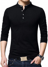 Henley Shirt Black