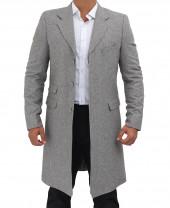 long gray wool coat