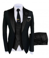 Black Three Piece Prom Tuxedo