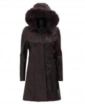Dark Brown Coat Womens