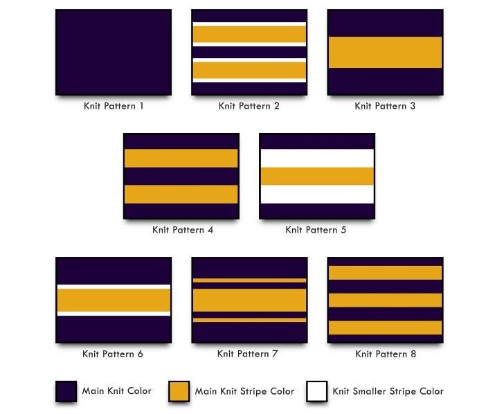 varsity jackets knit patterns