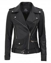 Black Asymmetrical Leather Jacket