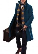 long blue teal coat