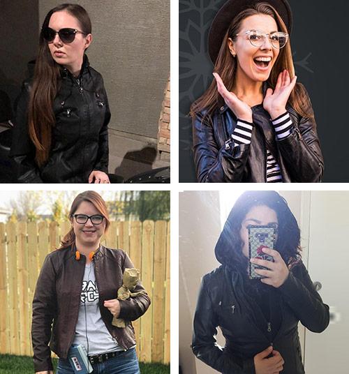 leather jacket women