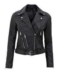 Asymmetrical Leather Jacket