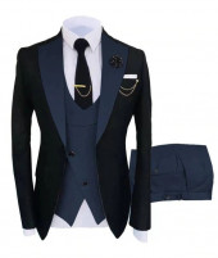 Mens Navy Blue Prom Tuxedo