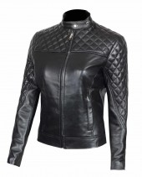 Biker Style Quilted Biker Womens Jacket