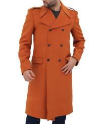 Copper Brown Wool Coat