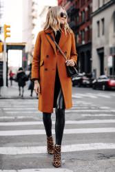 Brown Wool Coat Womens