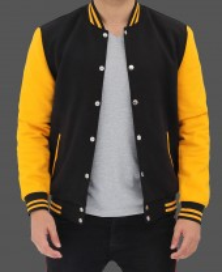 Black and Yellow Varsity Jacket