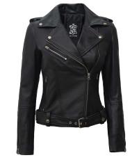 Womens Asymmetrical Leather Jacket